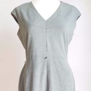 CALVIN KLEIN Dress size 8 Black Gray Gingham